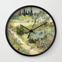 Vincent Van Gogh : Garden at Arles Wall Clock
