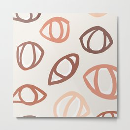 Faces | Look at You in Terra and Pink Metal Print