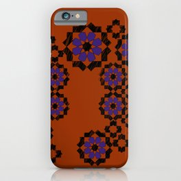 Zellige composition - purple and or iPhone Case