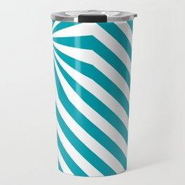Stripes explosion - Blue Travel Mug