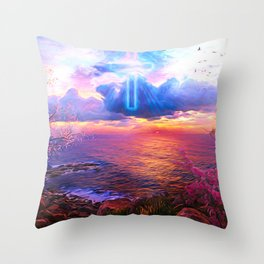 Center of faith Throw Pillow
