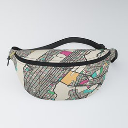 Colorful City Maps: Manhattan, New York Fanny Pack
