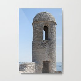 Corner Tower in an Old Fort Metal Print