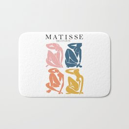 Abstract woman pastel color matisse woman artwork the cut outs Bath Mat