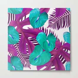 Anthurium purple Metal Print
