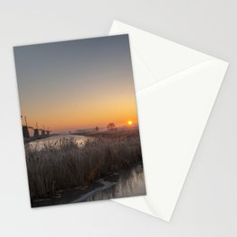 Windmills at Sunrise V Stationery Cards