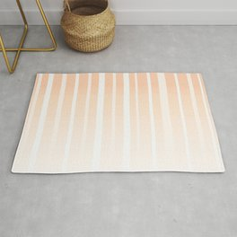 Dissolving Stripes Pattern in Soft Light Peach Rug
