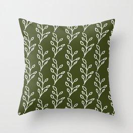 Feeling of lightness Pattern- Pine needle green Throw Pillow