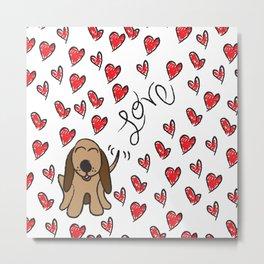 Hound Dog Love Metal Print