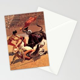 "Frederic Remington Western Art ""Bullfight in Mexico"" Stationery Cards"