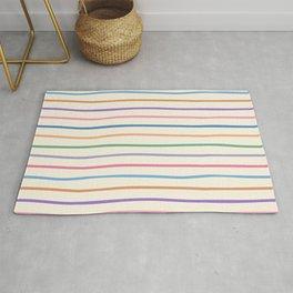 Colorful Hand Drawn Stripe Seamless Pattern Rug