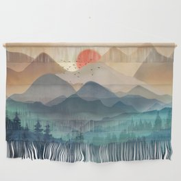 Wilderness Becomes Alive at Night Wall Hanging