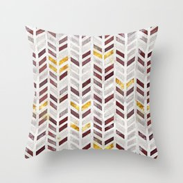 Modern Herringbone Chevron Pattern Painting Throw Pillow
