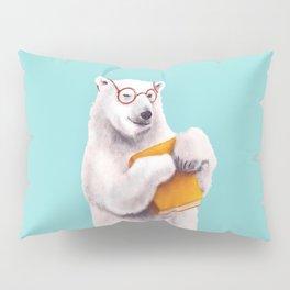Smart Polar Bear Book Lover Pillow Sham