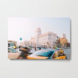 Barcelona 01 -  City vibes, Spain, Travel, Street Urban Photography, Wall Art, Home Decor, Europe Metal Print