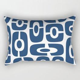 Mid Century Modern Cosmic Abstract 241 Navy Blue Rectangular Pillow