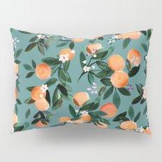 Dear Clementine - oranges teal by Crystal Walen Pillow Sham