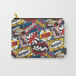 Modern Comic Book Superhero Pattern Color Colour Cartoon Lichtenstein Pop Art Carry-All Pouch