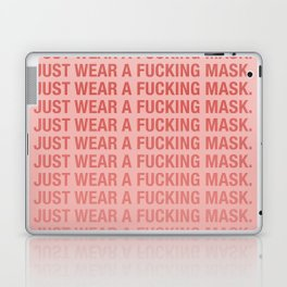 Just Wear A F*cking Mask in Bliush Laptop & iPad Skin