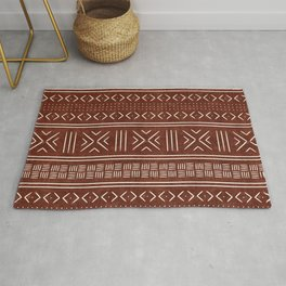 rust mud cloth Rug