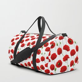Poppies pattern Duffle Bag