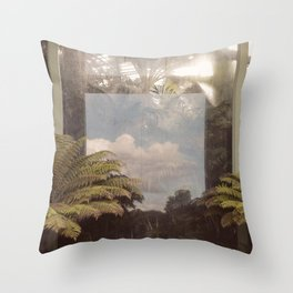 Sky in Glasshouse Throw Pillow