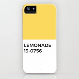 Lemon Summer Sunshine Pantone Chip iPhone Case