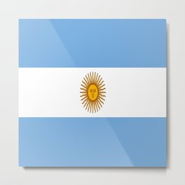 Flag Of Argentina Metal Print