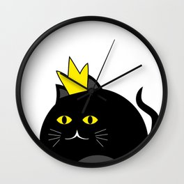 Little princess cat #society6 #decor #buyart #artprint Wall Clock
