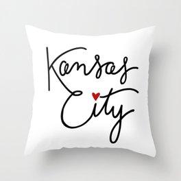 Cursive Kansas City Love Throw Pillow