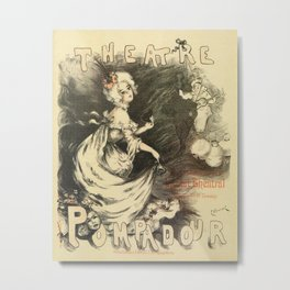 Vintage 1898 French theatre advertising Metal Print