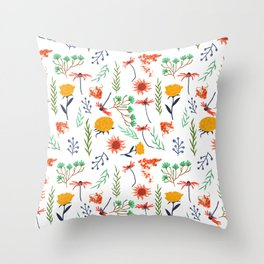 Rustica #illustration #pattern Throw Pillow