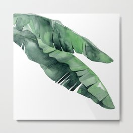 Tropical Island Leaves Pair Metal Print