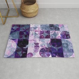 Abstract Geometric Marble Rug