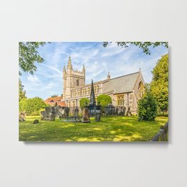 St Mary and All Saints church and churchyard, Old Beaconsfield, Buckinghamshire, ENgland Metal Print