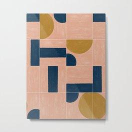 Painted Wall Tiles 03 #society6 #pattern Metal Print