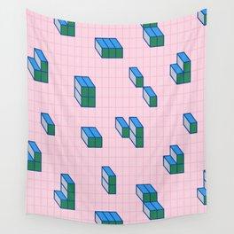 Grid & Tetris Wall Tapestry