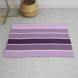 Lavender Purple Stripes Rug
