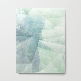 Frozen Geometry - Teal & Turquoise Metal Print