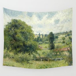 """Camille Pissarro """"Le grand noyer dans le pré, Éragny"""" (""""The big walnut in the meadow, Éragny"""") Wall Tapestry"""