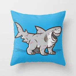 Great Polar Shark Throw Pillow