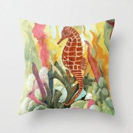 Kona Seahorse Throw Pillow