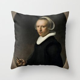 Portrait of a 39-year-old Woman Throw Pillow