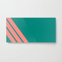 Three stripes coral Metal Print