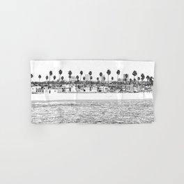 Vintage Newport Beach Print {4 of 4} | Photography Ocean Palm Trees B&W Tropical Summer Sky Hand & Bath Towel
