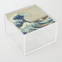 The Classic Japanese Great Wave off Kanagawa Print by Hokusai Acrylic Box