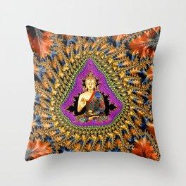 Buddha Mandelbrot Set Throw Pillow