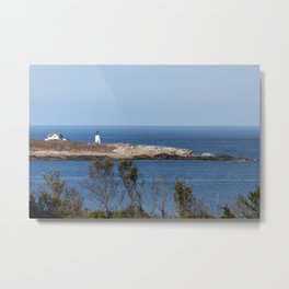 Autumn at Straitsmouth Island Lighthouse Metal Print