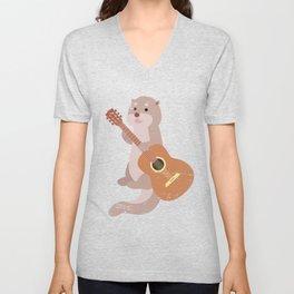 Otter Guitarist Unisex V-Neck