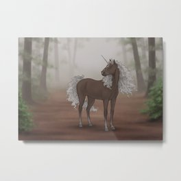 Unicorn Forest Metal Print